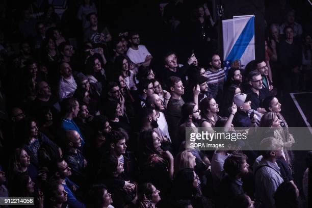 Fans seen during Luar Na Lubre's first gig in London Luar na Lubre is a Spanish music band formed in 1986 they hosted their first gig in the UK in...