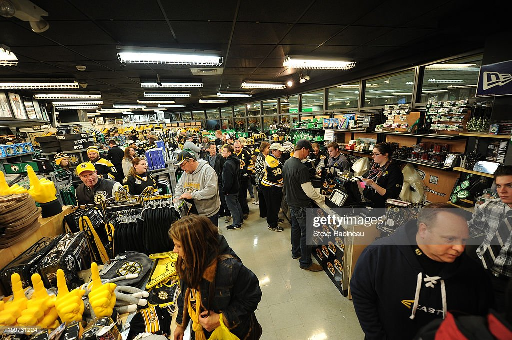 Fans Shop At The Pro Shop Store At North Station Before A Game Between The  Boston