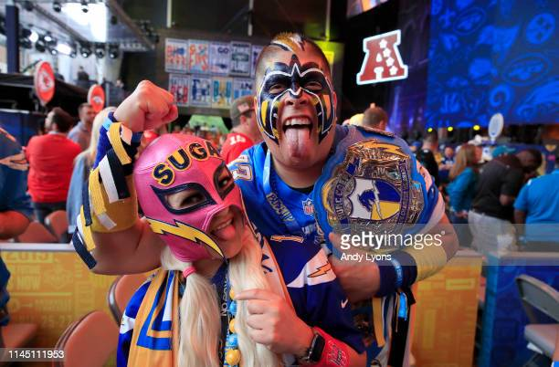 Fans show support for their team during the 2019 NFL Draft on April 25 2019 in Nashville Tennessee