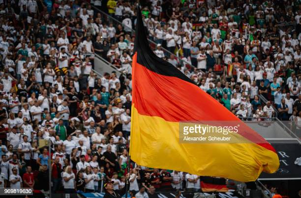 Fans show their support during the international friendly match between Germany and Saudi Arabia at BayArena on June 8, 2018 in Leverkusen, Germany.