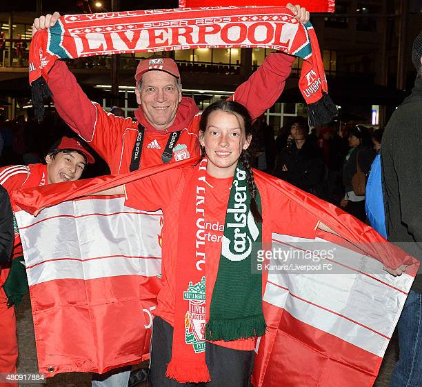 Fans show their support during the official jersey launch for Liverpool s  new away playing kit at. Liverpool FC In Brisbane c13f6a957