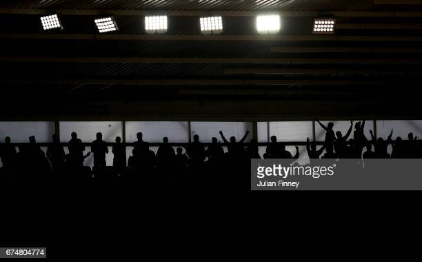 Fans show their support during the Premier League match between Southampton and Hull City at St Mary's Stadium on April 29 2017 in Southampton England