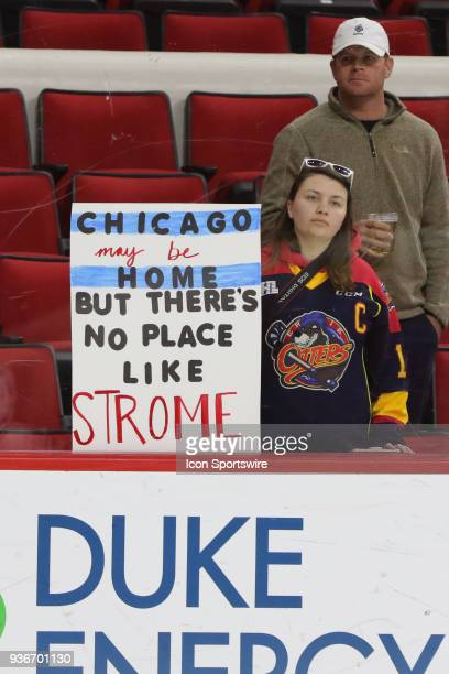 A fan's sign during the warmups of the Carolina Hurricanes game versus the Arizona Coyotes on March 22 at PNC Arena in Raleigh NC