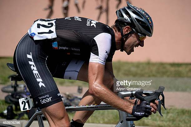 Fans support Jens Voigt as he makes a climb after he opened a lead in Garden of the Gods during stage 4 The USA Pro Challenge stage 2 on Thursday...