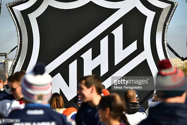 Fans take part in events at Spectator Plaza prior to the 2016 Tim Hortons NHL Heritage Classic alumni game at Investors Group Field on October 22...