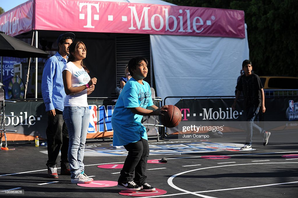 Fans take part in the NBA Nation Tour on May 23, 2010 at Universal City Walk in Universal City, California.