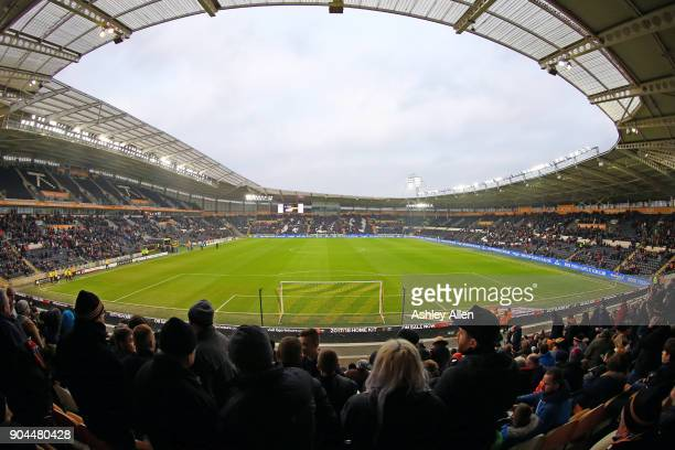 Fans take their seats during the Sky Bet Championship match between Hull City and Reading at KCOM Stadium on January 13 2018 in Hull England