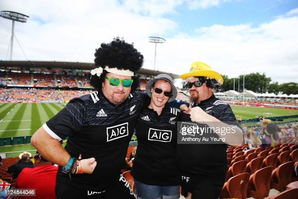 Fans turning up to day one of the 2019 Hamilton Sevens at FMG Stadium on January 26, 2019 in Hamilton, New Zealand.