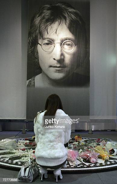 Fans visit the John Lennon Museum on December 8 2006 in Saitama Japan Today marks the 26th anniversary of Lennon's death Lennon was shot dead outside...