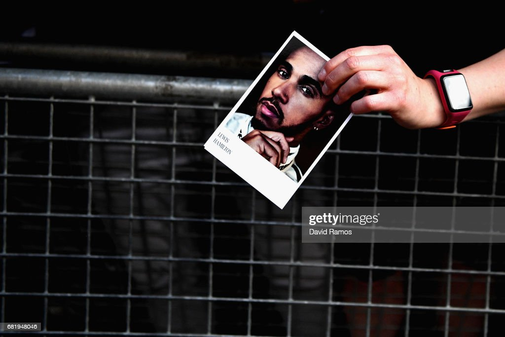 Fans wait for Lewis Hamilton of Great Britain and Mercedes GP at the drivers autograph signing session during previews for the Spanish Formula One Grand Prix at Circuit de Catalunya on May 11, 2017 in Montmelo, Spain.