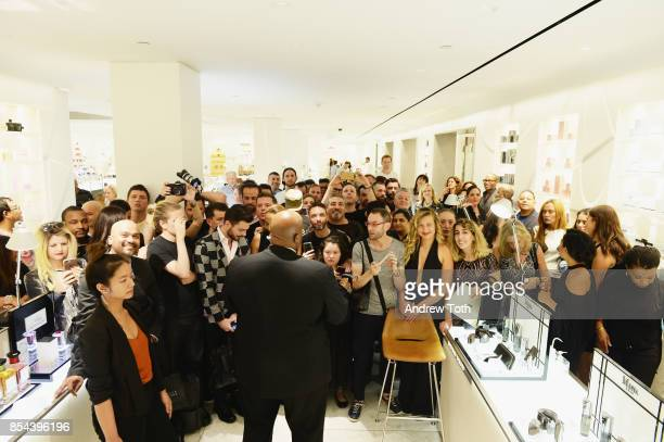 Fans wait for Madonna to arrive as Barneys New York Celebrates the launch of MDNA Skin at Barneys New York on September 26 2017 in New York City
