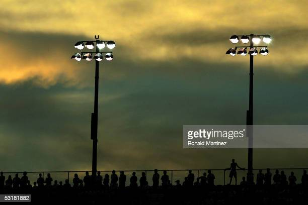 Fans wait for the start of the WinnDixie 250 on July 1 2005 at the Daytona International Speedway in Daytona Florida