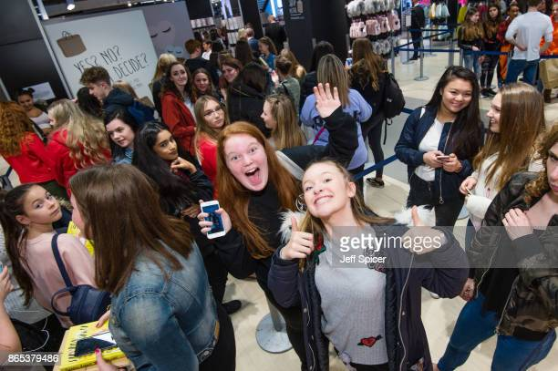 Fans wait in line as Primark launches exclusive Saffy B by Saffron Barker collection on October 23 2017 in London England