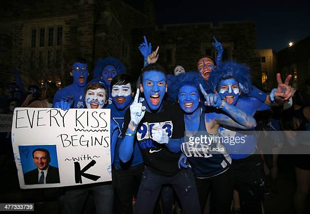 Fans wait in line before the start of the game between the North Carolina Tar Heels and Duke Blue Devils at Cameron Indoor Stadium on March 8, 2014...