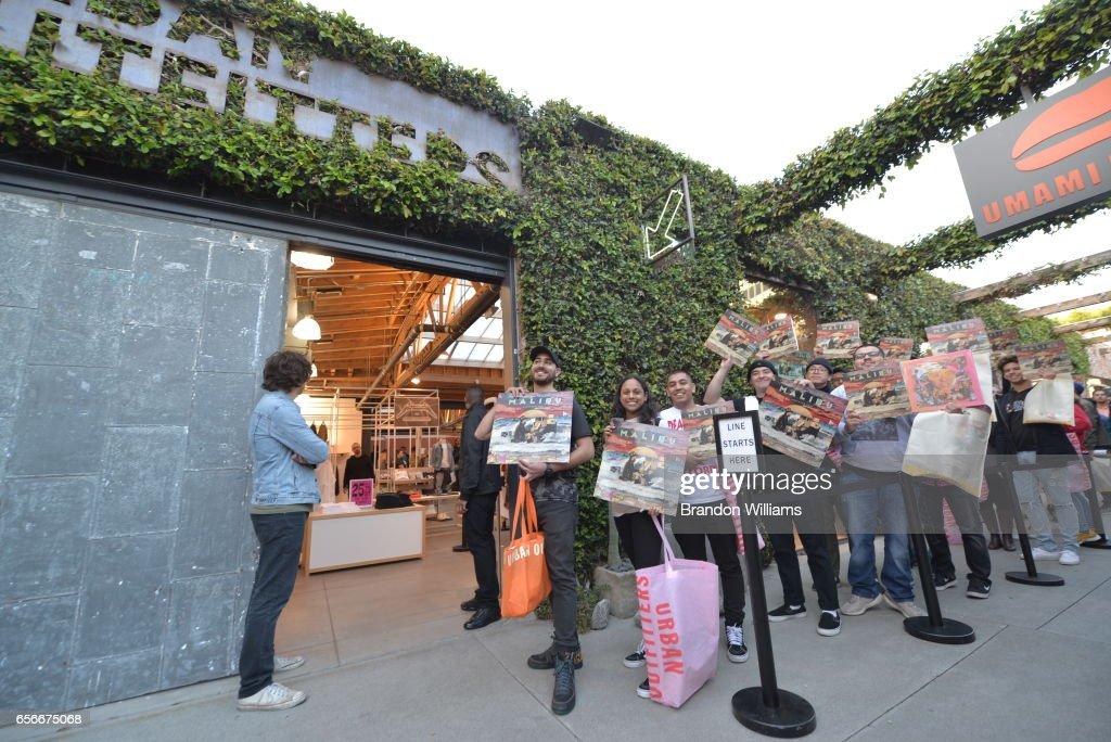 Fans Wait In Line Outside Of Space 15 Twenty For An Exclusive Meet