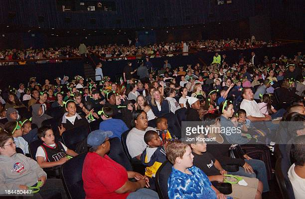 """Fans waiting for """"Shrek 2"""" to begin during DreamWorks' """"Shrek 2"""" Opening Day Special Screening And Waffle Breakfast at ArcLight Cinerama Dome in..."""