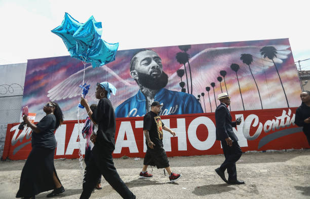 CA: Funeral Procession Of Hip Hop Artist And Community Activist Nipsey Hussle Travels Through His L.A. Neighborhood