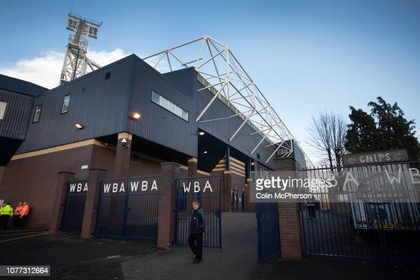 Fans walking through entrance gates to the stadium, pictured before West Bromwich Albion take on Leeds United in a SkyBet Championship fixture at the...