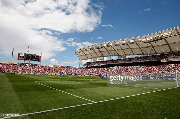 Fans watch a game against the United States and Cuba during the second half of an CONCACAF Gold Cup match July 13 2013 at Rio Tinto Stadium in Sandy...