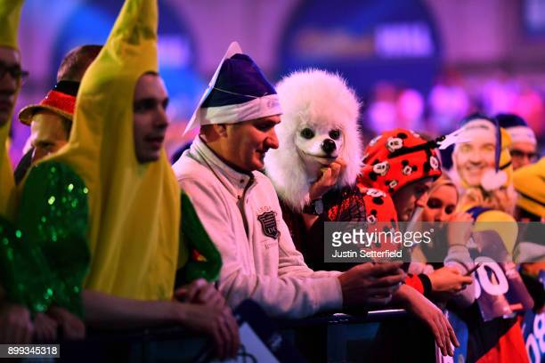 Fans watch during the 2018 William Hill PDC World Darts Championships on Day Twelve at Alexandra Palace on December 28, 2017 in London, England.