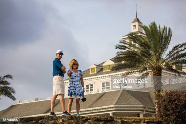 Fans watch golfers head out to the course for the shotgun start of individual play Chandler Blanchet of the University of West Florida wins the...