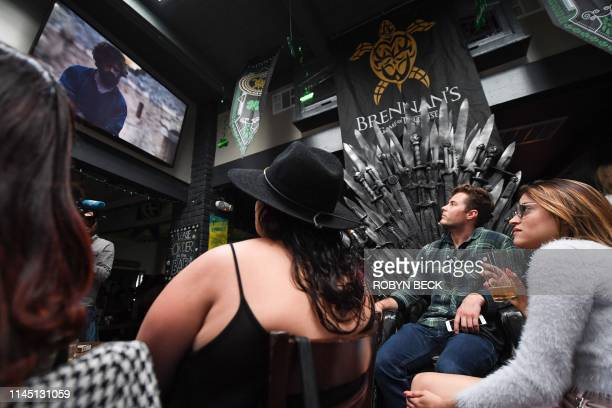 Fans watch HBO's Game of Thrones series finale at a viewing party at Brennan's bar in Marina del Rey California May 19 2019
