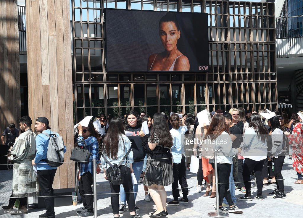 Kim Kardashian West's KKW BEAUTY Pop-Up Shop Opens To The Public In LA