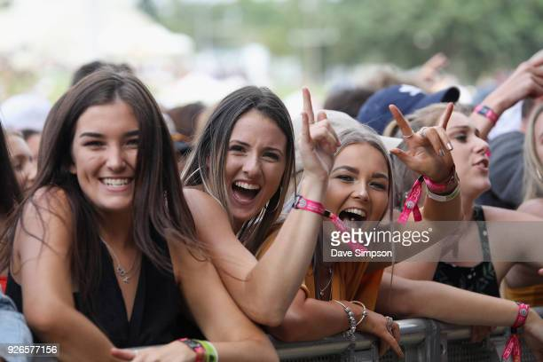 Fans watch P Money perform at Auckland City Limits Music Festival on March 3 2018 in Auckland New Zealand