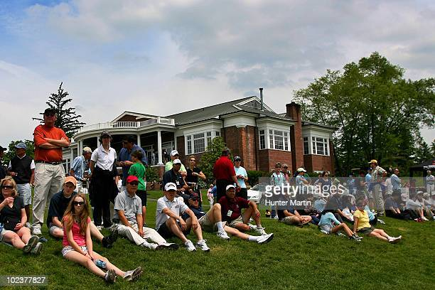 Fans watch play during the third round of the Sybase Match Play Championship at Hamilton Farm Golf Club on May 22 2010 in Gladstone New Jersey