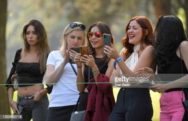 Fans watch play during the third round of the World Golf Championships-Mexico Championship at Club de Golf Chapultepec on February 22, 2020 in Mexico...