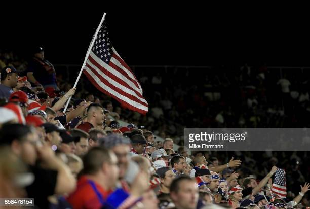 Fans watch the 2018 FIFA World Cup Qualifying match between the United States and Panama at Orlando City Stadium on October 6 2017 in Orlando Florida