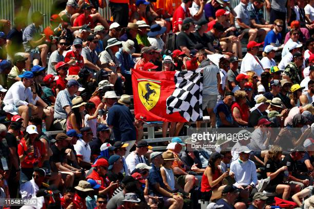Fans watch the drivers parade before the F1 Grand Prix of Canada at Circuit Gilles Villeneuve on June 09, 2019 in Montreal, Canada.