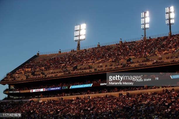 Fans watch the game during the LSU Tigers v Georgia Southern Eagles at Tiger Stadium on August 31, 2019 in Baton Rouge, Louisiana.