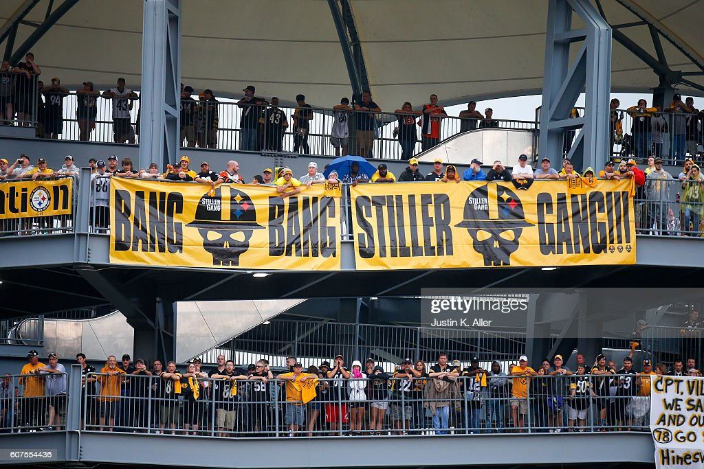Fans watch the game from the rotunda in the third quarter during the game between the Pittsburgh Steelers and the Cincinnati Bengals at Heinz Field on September 18, 2016 in Pittsburgh, Pennsylvania.