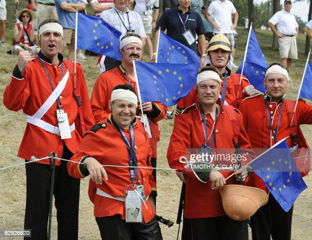 Fans watch the match of Team Europe players Henrik Stenson and Oliver Wilson against Phil Mickelson and Anthony Kim of the United States during the...