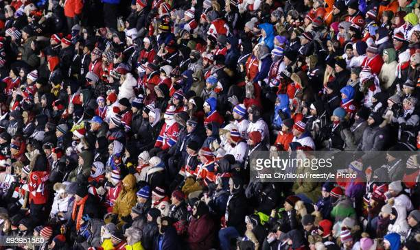 Fans watch the Ottawa Senators playing against the Montreal Canadiens during the of the 2017 Scotiabank NHL100 Classic at Lansdowne Park on December...