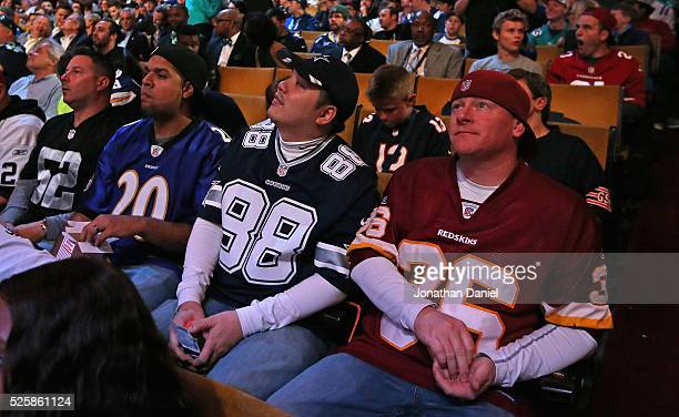 Fans watch the proceedings during the 2016 NFL Draft at the Auditorium Theater on April 28 2016 in Chicago Illinois