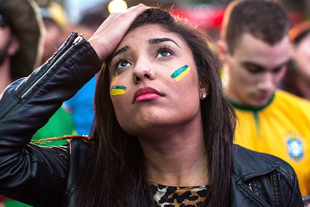 BRA: Football Fans In Brazil Gather To Watch Third Place Match: Brazil v Netherlands