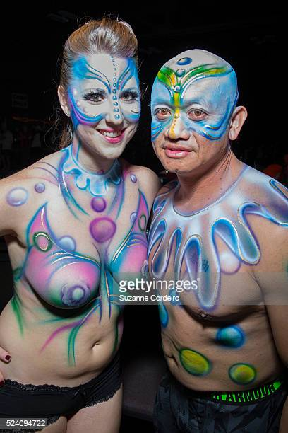 Fans wearing costumes celebrate at Austin's Carnaval Brasileiro which was held at Palmer Events Center on February 28 2015 in Austin Texas