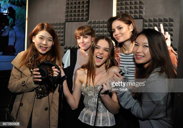 Fans with Sasha Sloan Charlotte Lawrence and Nina Nesbitt attend Spotify's Louder Together event celebrating the first ever collaborative Spotify...