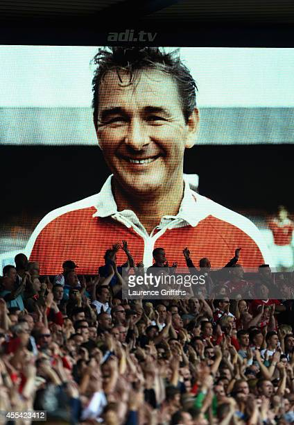 Fansremeber Brian Clough during the Sky Bet Championship match between Nottingham Forest and Derby County at City Ground on September 14, 2014 in...