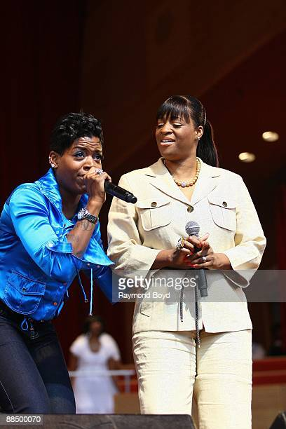 Fantasia and her mother Diane Barrino performs at the Pritzker Pavilion in Chicago Illinois on JUNE 07 2009