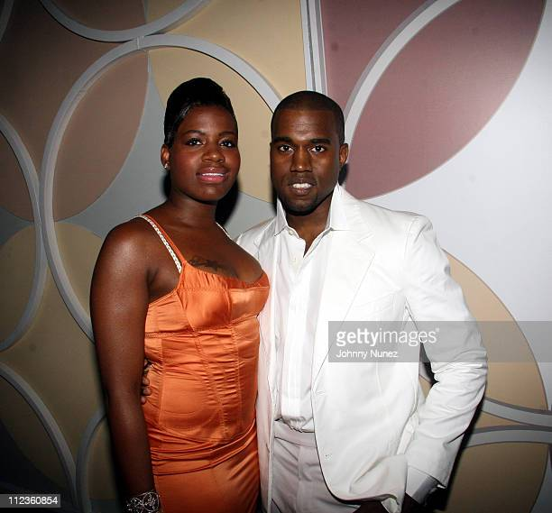 Fantasia and Kanye West during 6th Annual BET Awards Inside at Shrine Audatorium in Hollywood California United States
