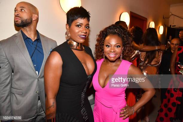 Fantasia Barrino and backstage Naturi Naughton during Black Girls Rock 2018 at NJPAC on August 26 2018 in Newark New Jersey