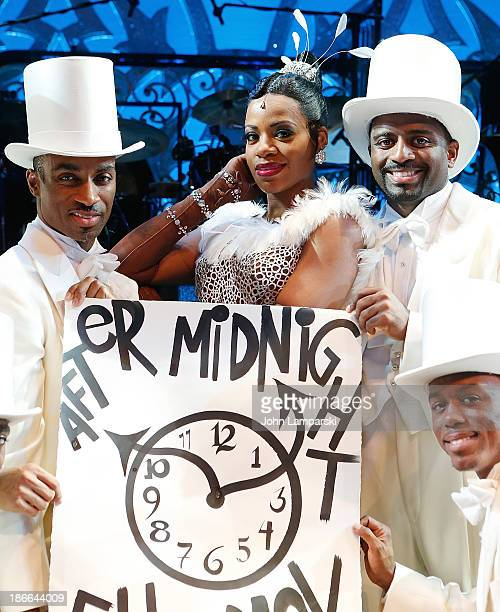 Fantasia Barrino and cast attend the 'After Midnight' Day Light Savings Time Reminder>> at The Brooks Atkinson Theatre on November 2 2013 in New York...