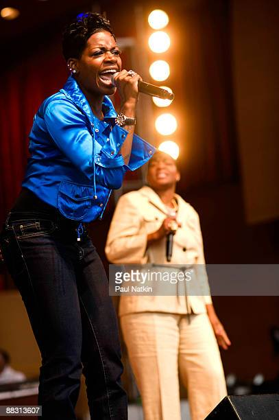 Fantasia Barrino and Diane Barrino perform during the 25th Annual Chicago Gospel Music Festival at the Pritzger Pavillion on June 7 2009 in Chicago...