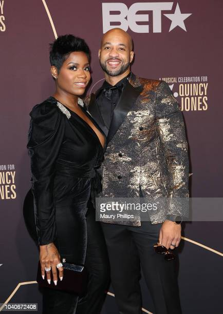 Fantasia Barrino and her husban Kendall Taylor arrive at Q 85 A Musical Celebration for Quincy Jones presented by BET Networks at Microsoft Theater...