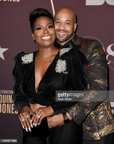 Fantasia Barrino and her husband Kendall Taylor arrive at Q85 A Musical Celebration for Quincy Jones at the Microsoft Theatre on September 25 2018 in...