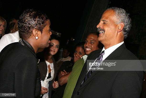 """Fantasia Barrino and Stedman Graham during Oprah Winfrey Visits Fantasia at """"The Color Purple"""" at the Broadway Theater in New York City - May 19,..."""