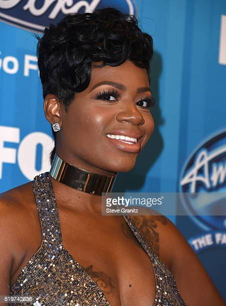 Fantasia Barrino arrives at the FOX's 'American Idol' Finale For The Farewell Season at Dolby Theatre on April 7 2016 in Hollywood California